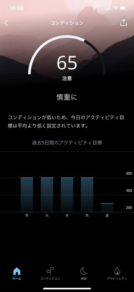 オーラリングのコンディションデータ